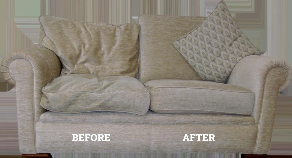 sofa cushions need replumping